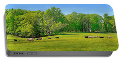 Flowering Cow Pasture Portable Battery Charger