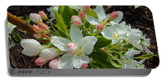 Portable Battery Charger featuring the photograph Flowering Crab Apple by Chholing Taha