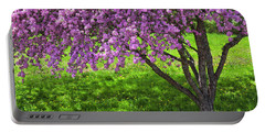 Flowering Crabapple Portable Battery Charger by Alan L Graham