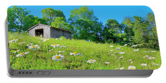 Flowering Hillside Meadow - View 2 Portable Battery Charger