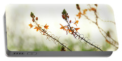 Flowering In Israel At The Sunset Portable Battery Charger by Yoel Koskas