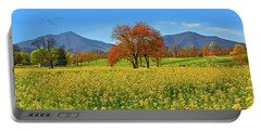 Flowering Meadow, Peaks Of Otter,  Virginia. Portable Battery Charger