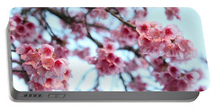 Portable Battery Charger featuring the photograph flowering of the almond tree, Jerusalem by Yoel Koskas
