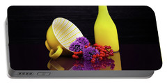 Flowering Onion With Yellow Portable Battery Charger