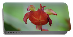 Flowering Red Adam's Pitcher Plant Portable Battery Charger