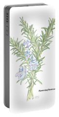 Flowering Rosemary Portable Battery Charger
