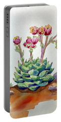 Flowering Succulent Portable Battery Charger