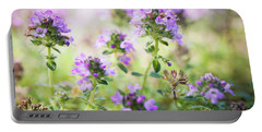 Portable Battery Charger featuring the photograph Flowering Thyme by Elena Elisseeva