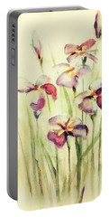 Portable Battery Charger featuring the painting Flowers by Allen Beilschmidt