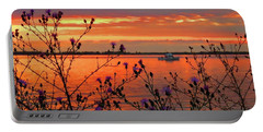 Flowers Along The Shore At Tibbetts Point  Portable Battery Charger