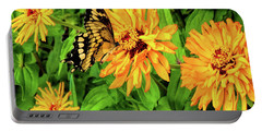 Flowers And Butterflies Portable Battery Charger