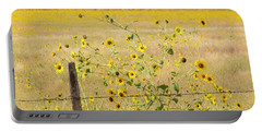 Flowers And Fence Portable Battery Charger