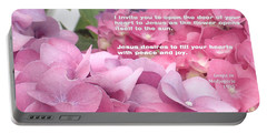 Flowers And Joy  Portable Battery Charger