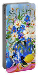 Flowers And Lemon Portable Battery Charger