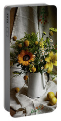 Flowers And Lemons Portable Battery Charger