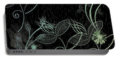 Flowers And Rain Portable Battery Charger