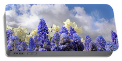 Flowers And Sky Portable Battery Charger