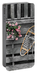 Flowers And Snowshoe Portable Battery Charger