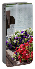 Flowers And Water Portable Battery Charger
