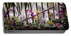 Flowers And Waterfall Portable Battery Charger