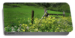 Flowers At The Gate Portable Battery Charger