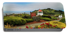 Portable Battery Charger featuring the photograph Flowers At The Trinidad Lighthouse by James Eddy