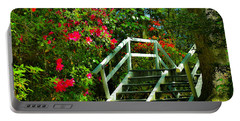 Flowers Bloom Alongside Magnolia Plantation Bridge - Charleston Sc Portable Battery Charger