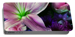 Portable Battery Charger featuring the photograph Flowers Everyday 1 by Ellen Levinson