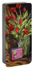 Flowers Feed The Soul Portable Battery Charger