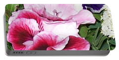 Portable Battery Charger featuring the photograph Flowers From The Heart by Jolanta Anna Karolska