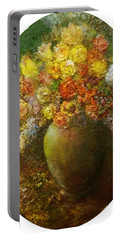 Flowers I A Green Vase Portable Battery Charger