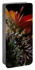 Portable Battery Charger featuring the digital art Flowers 2 by Stuart Turnbull
