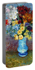 Portable Battery Charger featuring the painting Flowers In A Blue Vase  by Van Gogh