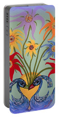 Flowers In A Fancy Vase  Portable Battery Charger