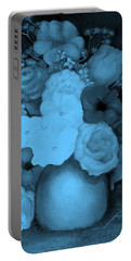 Flowers In Blue Portable Battery Charger