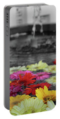 Flowers In Fountain Portable Battery Charger