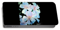 Flowers In Shades Of White Portable Battery Charger by Derek Rutt