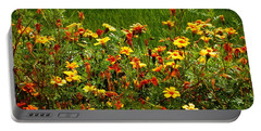 Flowers In The Fields Portable Battery Charger by Joseph Frank Baraba