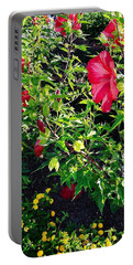 Portable Battery Charger featuring the photograph Flowers Of Bethany Beach - Hibiscus And Black-eyed Susams by Kim Bemis