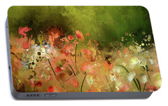 Portable Battery Charger featuring the photograph Flowers Of Corfu by Lois Bryan