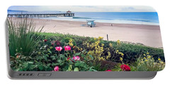 Flowers Of Manhattan Beach Portable Battery Charger