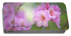 Flowers Of Pink Rhododendron Portable Battery Charger