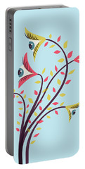 Flowers Of Watching Eyes Portable Battery Charger