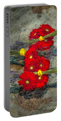 Portable Battery Charger featuring the photograph Flowers On Rocks by Nick Zelinsky