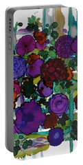 Flowers On Trellis Portable Battery Charger by Alika Kumar