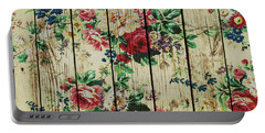 Flowers On Wood 01 Portable Battery Charger