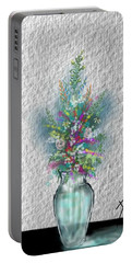 Flowers Study Two Portable Battery Charger