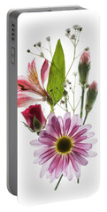 Flowers Transparent 1 Portable Battery Charger by Tom Mc Nemar