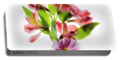 Flowers Transparent  2 Portable Battery Charger
