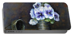 Flowers,pansies Still Life Portable Battery Charger